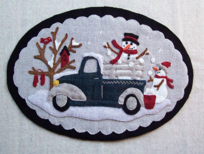 Vintage Truck Thru the Year - January