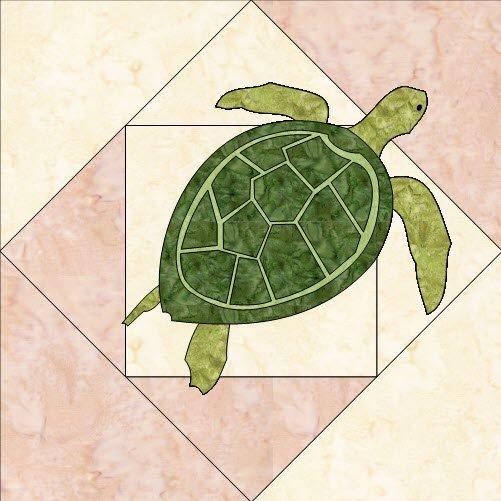 Beach Dreams Block 9- Sea Turtle