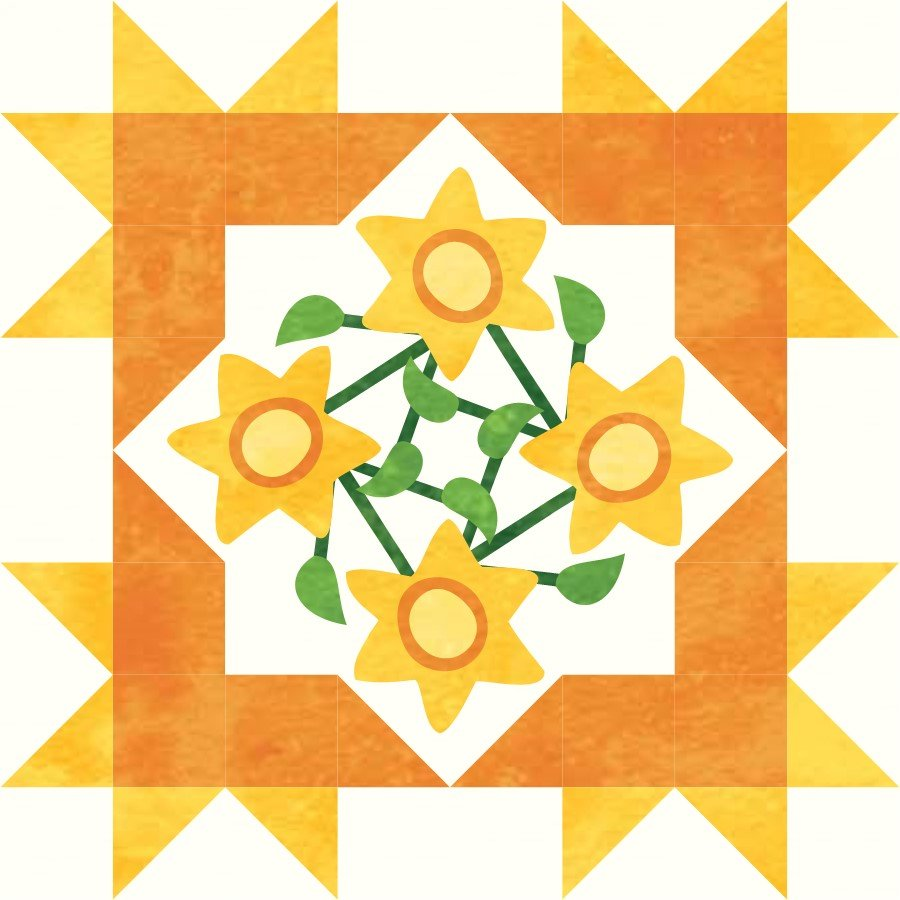 Starburst Blossoms Bonus Block 2: Sunflowers