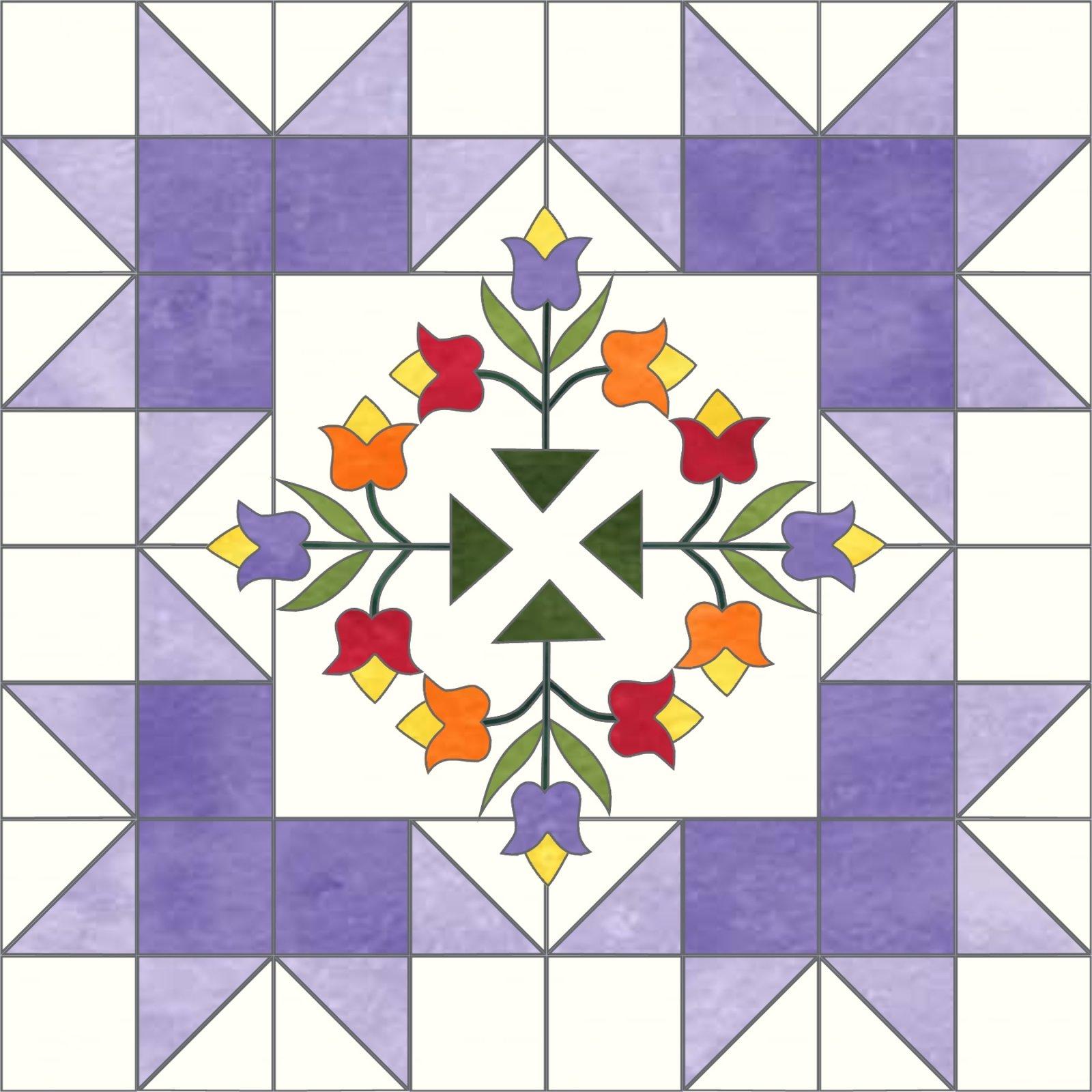 Starburst Blossoms Bonus Block 5 Tulip Trio