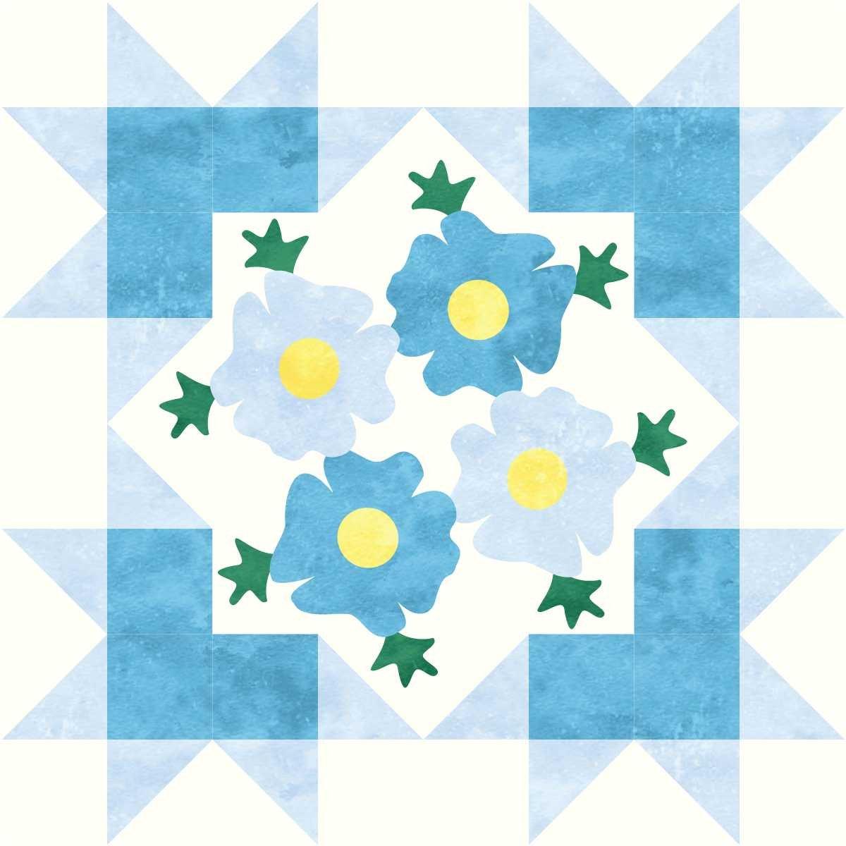 Starburst Blossoms Bonus Block 8 Posy