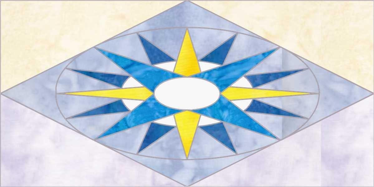 Beach Dreams Block 8 Mariner's Compass