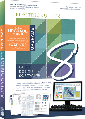 EQ8 Quilt Design Software - Upgrade from EQ7