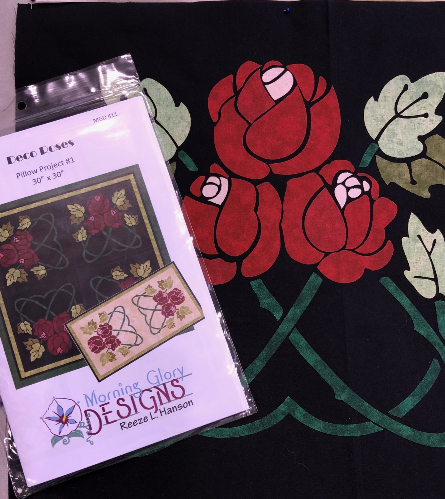 Deco Roses Pattern & Laser Cut Kit