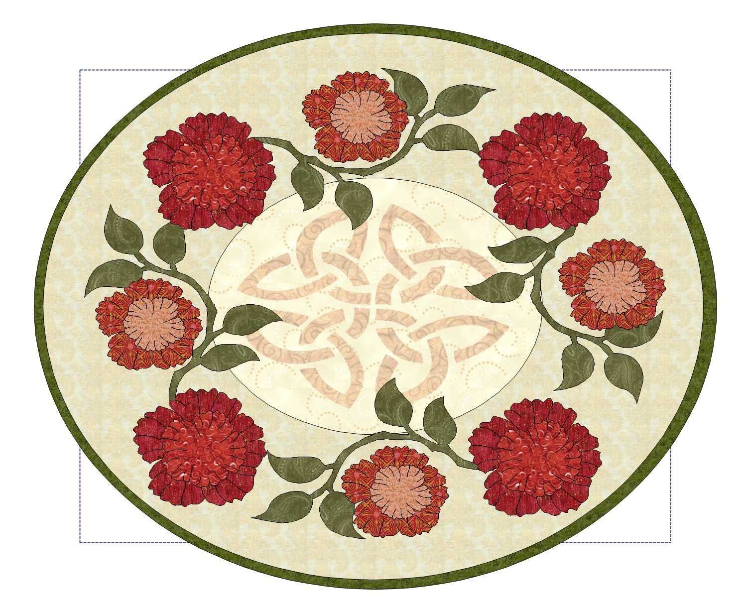 January Carnation Table Runner