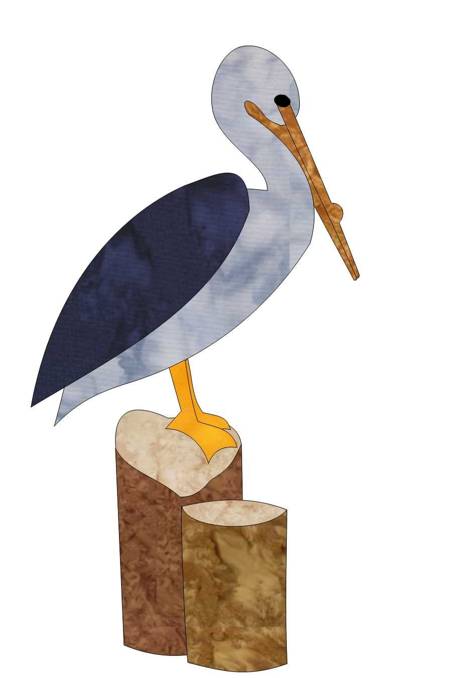 Beach Dreams Block 4 - Pelican on a Piling