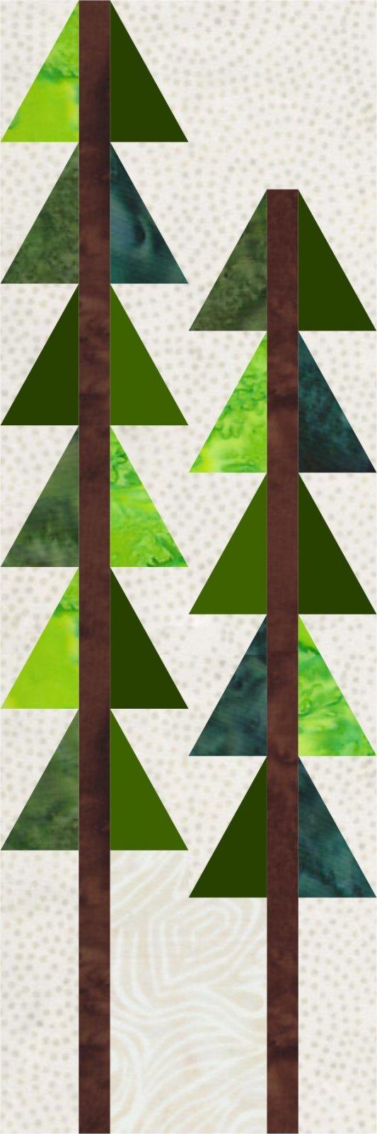 Season of Lights Bonus Block 4 - Two Pine Trees