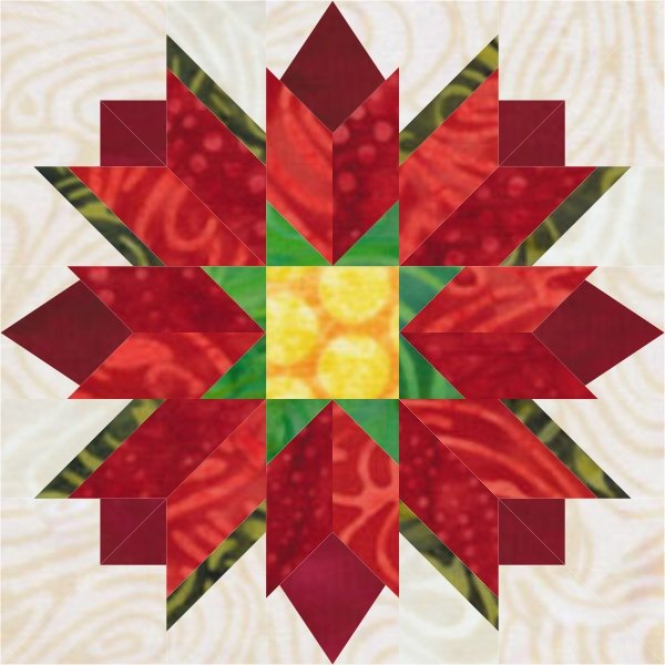 Season of Lights BOM Block 4: Poinsettia