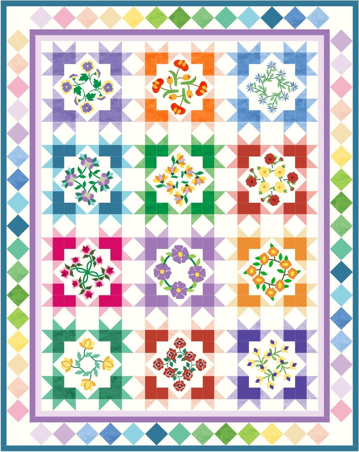 Starburst Blossom Complete Pattern