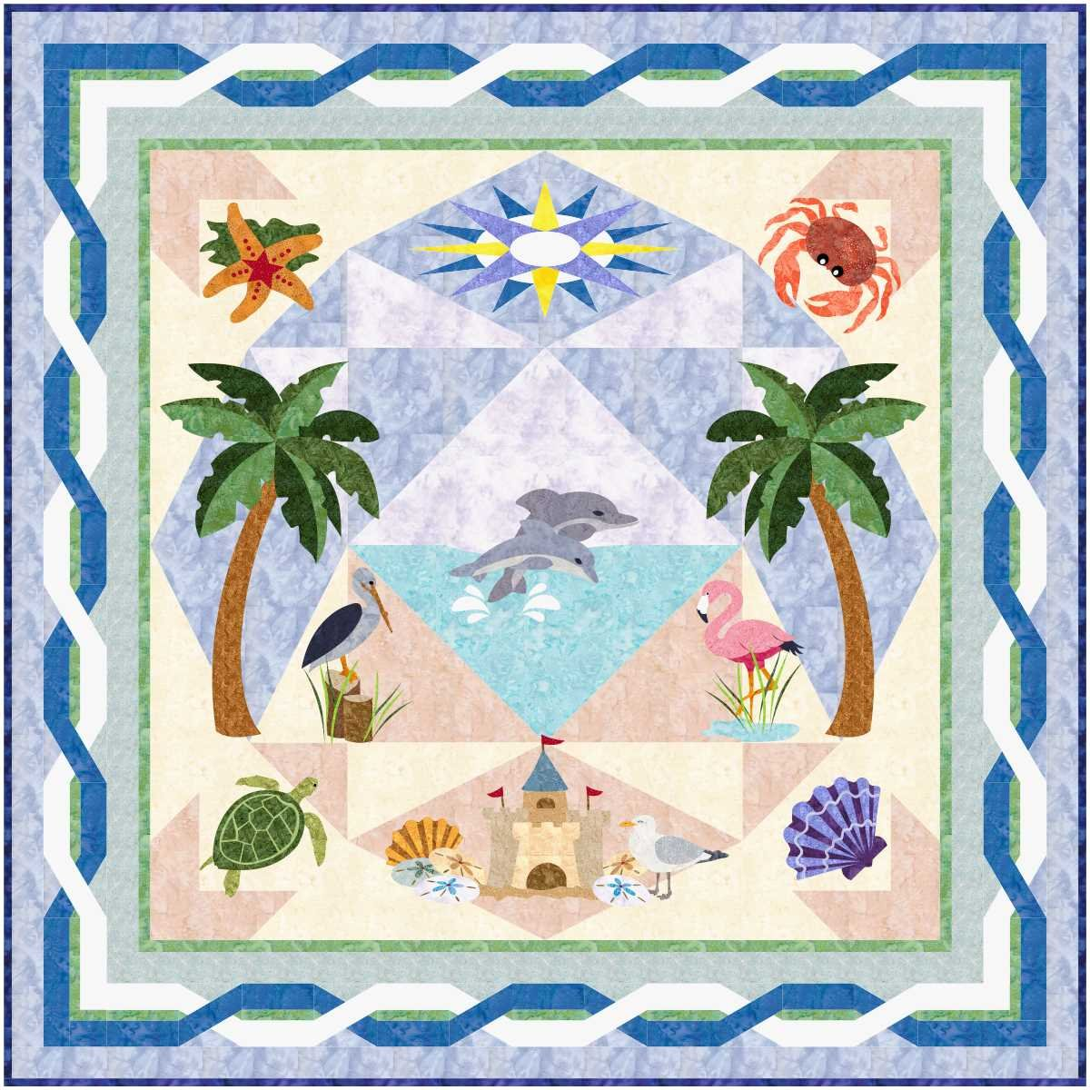 Beach Dreams Block of the Month PrePay Option