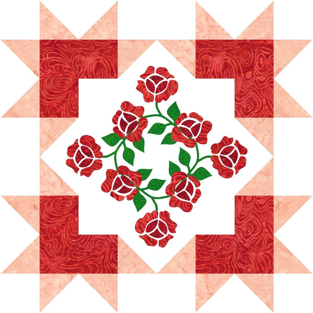 Starburst Blossoms Block 1:  Roses