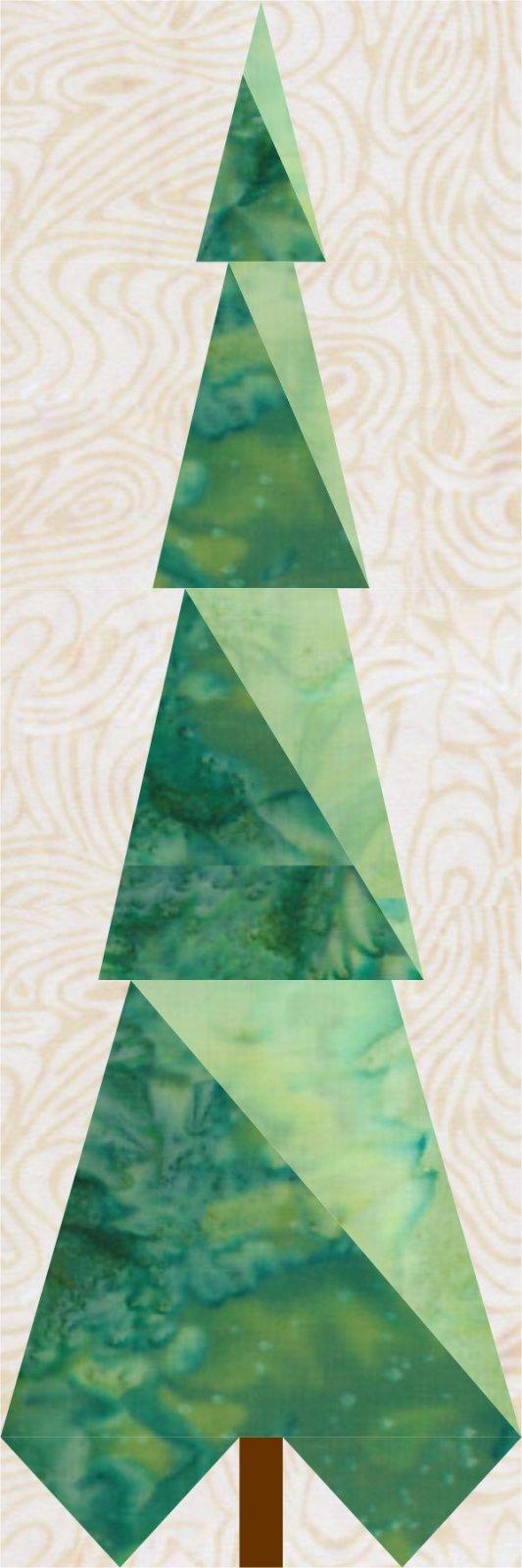 Season of Lights BOM Bonus Block 3: Snowy Tree