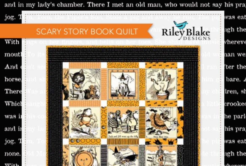 SCARY STORY BOOK QUILT, GOOSE TALES