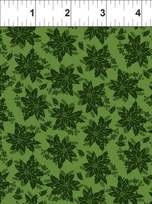Winter Twist Tonal Floral green