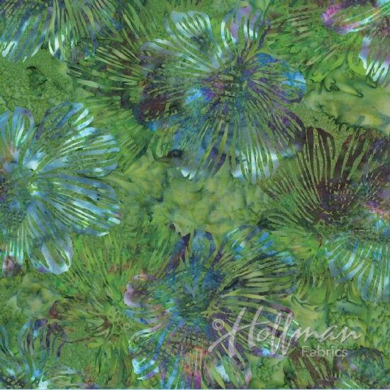 Bali Batik Stylized Floral caterpillar