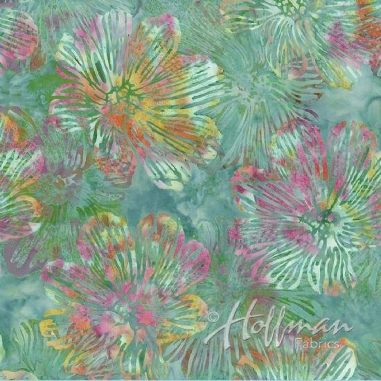 Bali Batik Stylized Floral loden