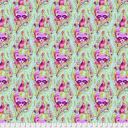 Tula Pink All Stars Raccoon poppy