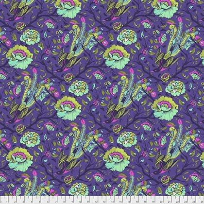 Tula Pink All Stars Tail Feathers iris