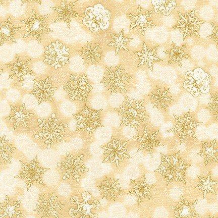 Winter's Grandeur 8 snowflakes ivory