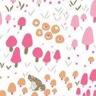 Woodland Gathering Organic mushrooms pink