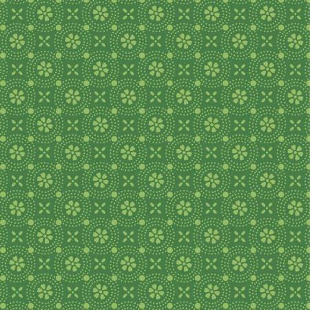 Kimberbell Basics Green Dotted Circles MAS8241-GG