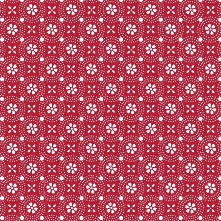 Kimberbell Basics Red Dotted Circles MAS8241-R
