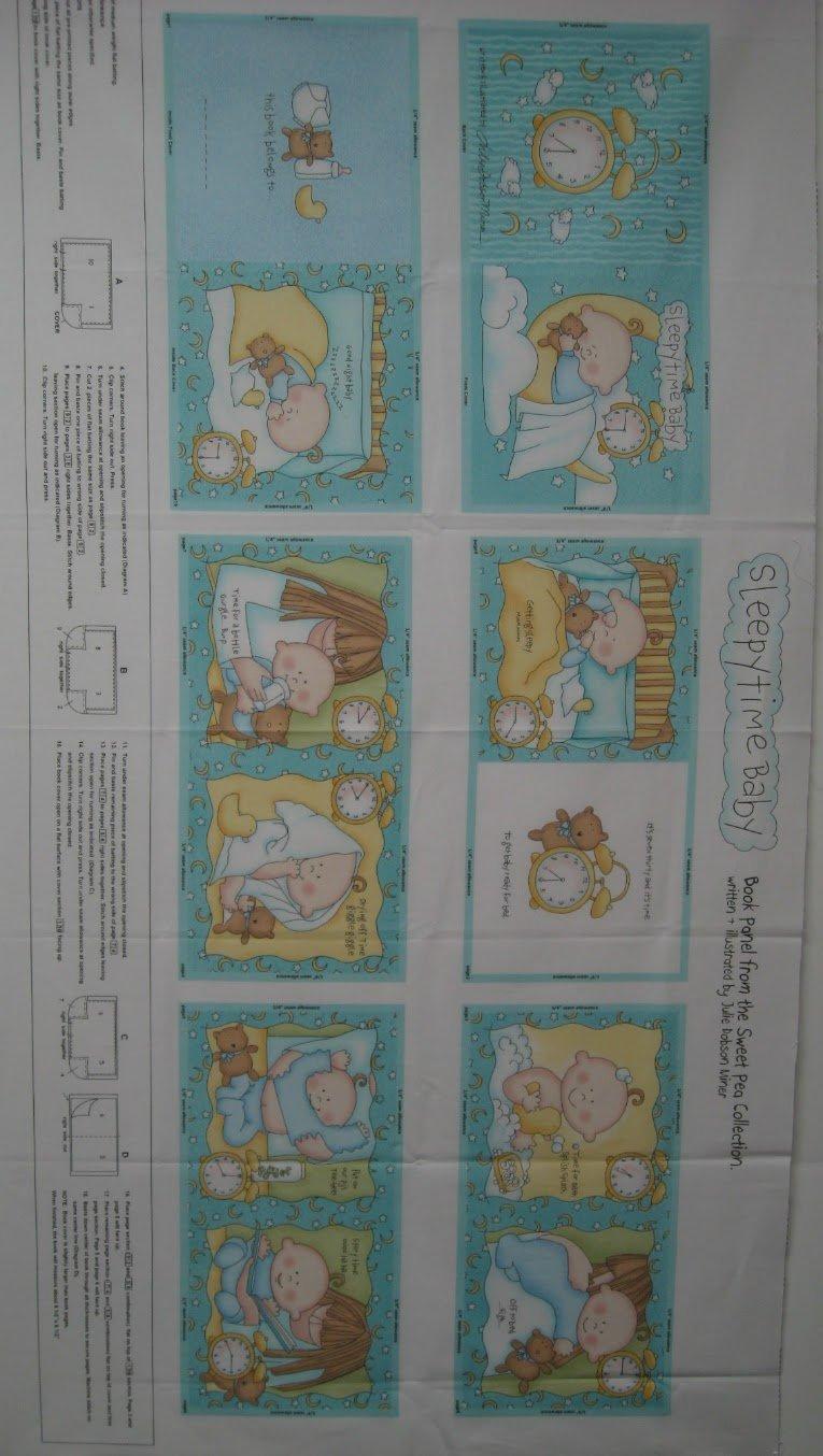 Sweet Pea Sleepy Time Fabric Book Panel By Studio E