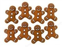 Iced Cookie Buttons (gingerbread men)
