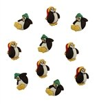 Little Penguins Buttons (3-d)