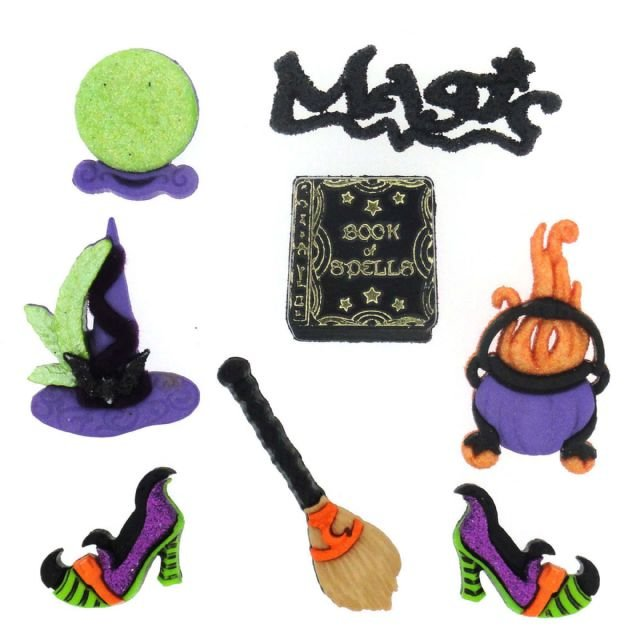 Witches Spell Buttons Pack