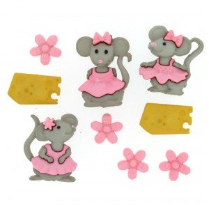 The Mice Girl Buttons