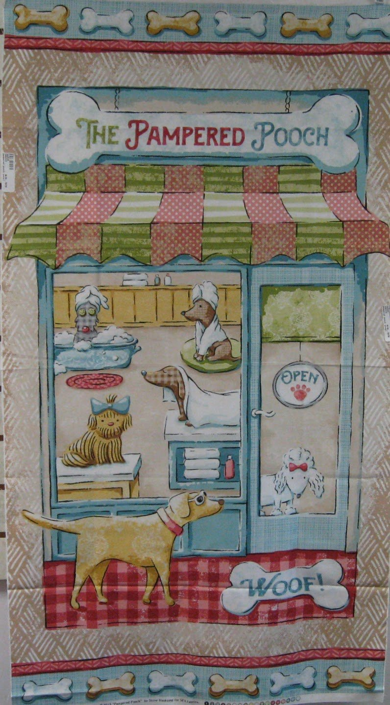 Pampered Pooch Quilt Panel by Steve Haskamp