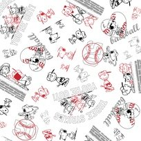 All Stars, Character Toss, Line Drawing, Quilting Treasures 1649-24529-JZ