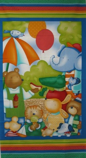At the Park Quilt Panel by Benartex