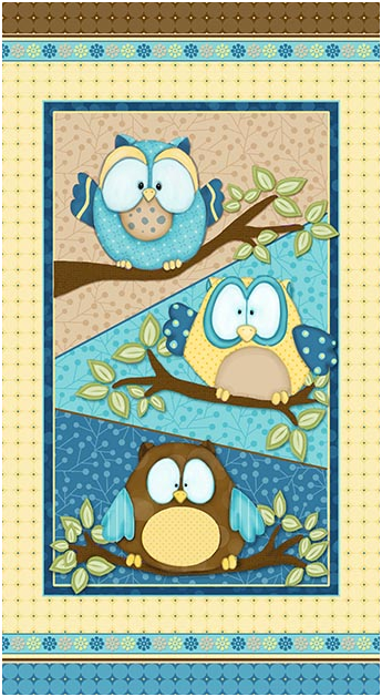 Whoo Me ? Quilt Panel By Shelly Comiskey