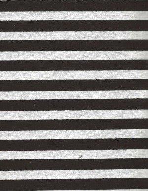 TRIBECA BLACK/WHITE STRIPE