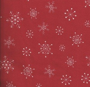 Red Snowflake Karen Snyder - Anna Lena for Timeless Treasures