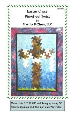 Easter Cross Pinwheel Twist by Martha D-Zines, LLC