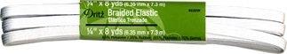 Elastic, Dritz Braided Elastic 1/4 wide, 8 yards long