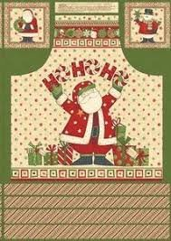 Ho Ho Holiday Apron Panel, Debbie Mumm, South Sea Imports(018)