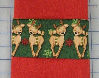 Reindeer Tea Towel Kit- Ready to sew