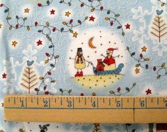 Snowmen Make Me Smile Flannel- Henry Glass Co