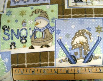 Snow Much Fun Flannel- Henry Glass Co