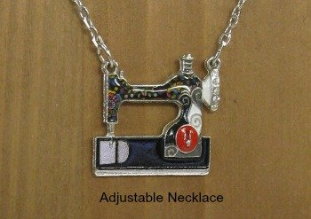 Enamel Alloy Sewing Machine Necklaces Pendants Choker Chain Fashion Jewelry