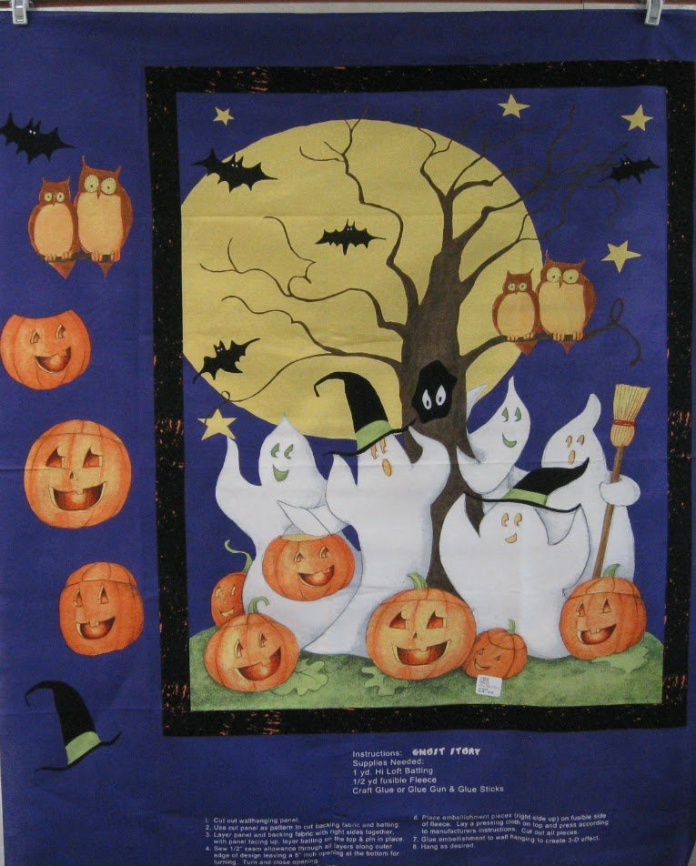 Ghost Story Quilt Panel by Steele Creek Studio