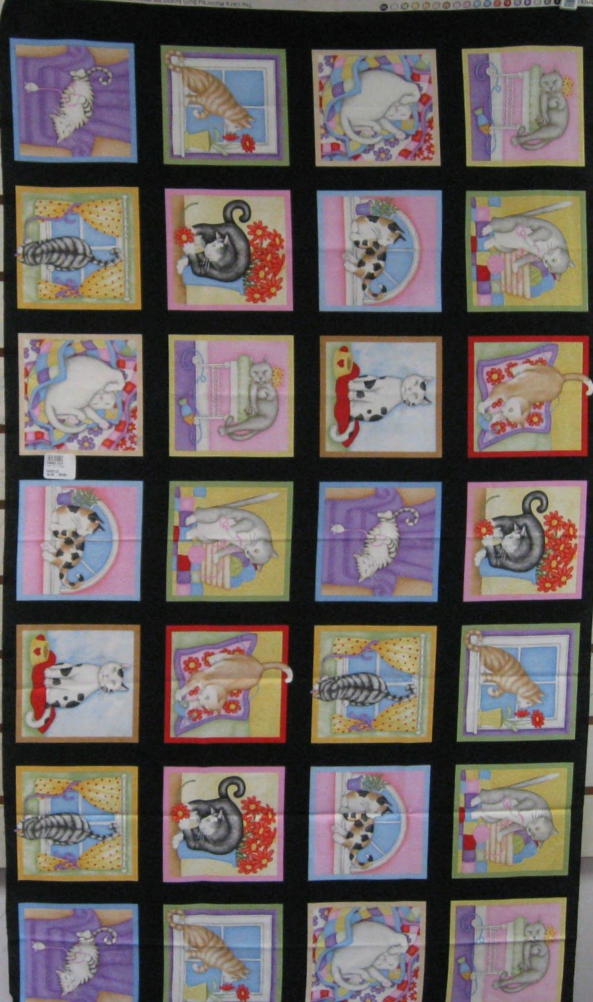 The Cat's Meow Quilt Panel by Beth Logan