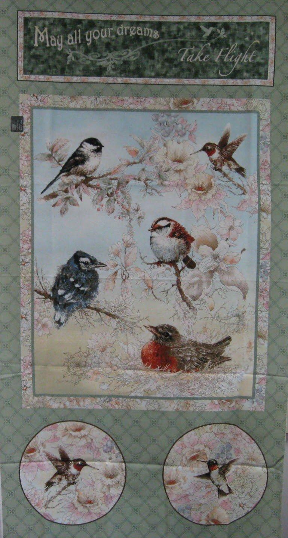 Bird Quilt Panel by Giordano Studios