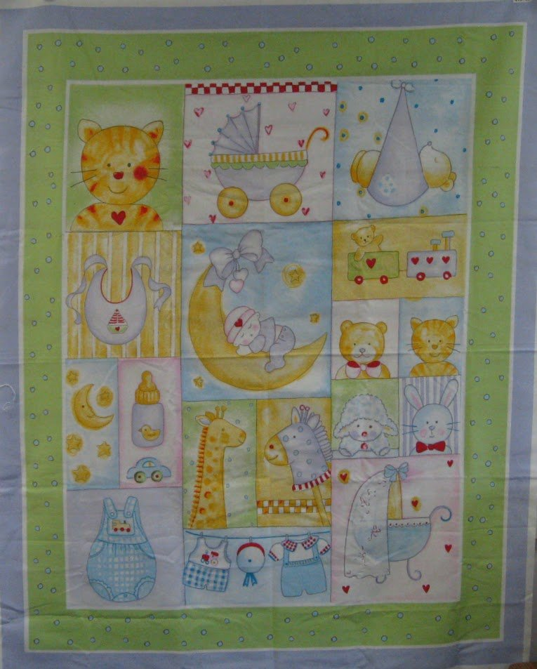Baby Moon Baby Quilt Panel- Fabri-Quilt