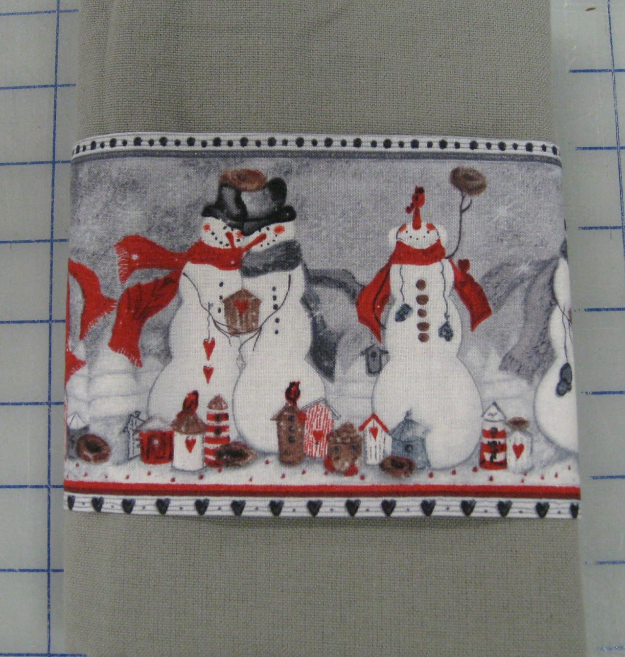 Snowmen Tea Towel Kit