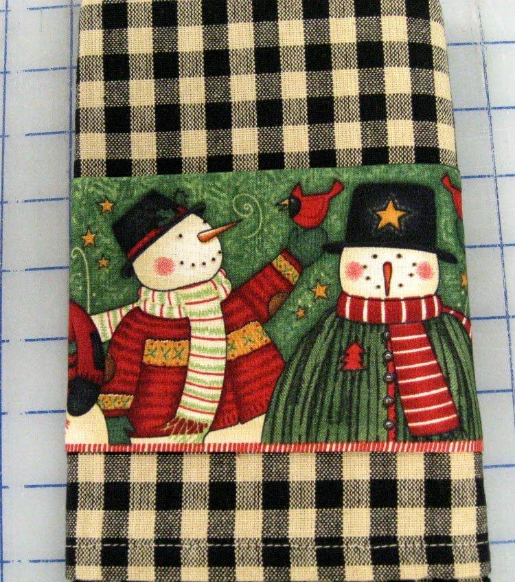 Snowmen Tea Towel Kit